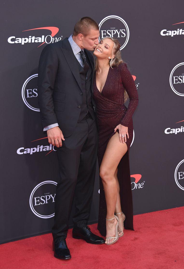 American Football-ster Rob Gronkowski en model Camille Kostek.