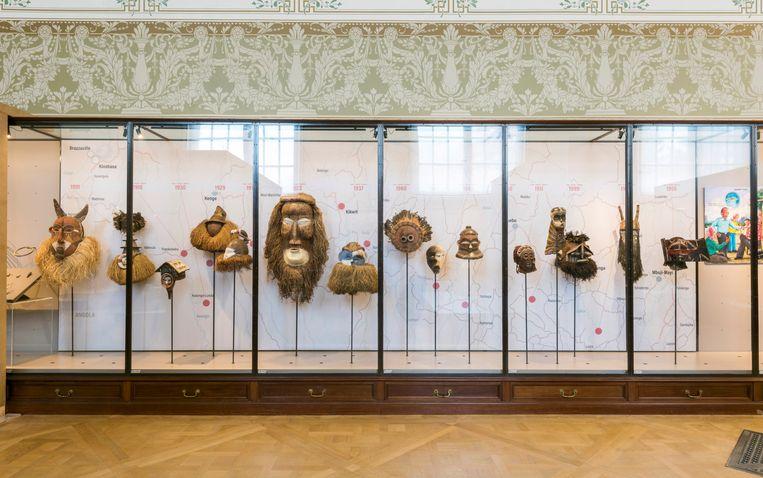 Het AfricaMuseum in Tervuren. De voorwerpen op de foto hoeven geen roofkunst te zijn. Beeld AfricaMuseum