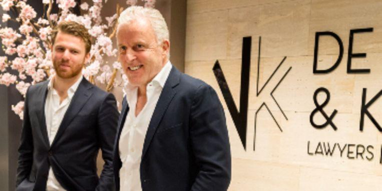 Royce de Vries samen met zijn vader Peter R. de Vries Beeld ANP