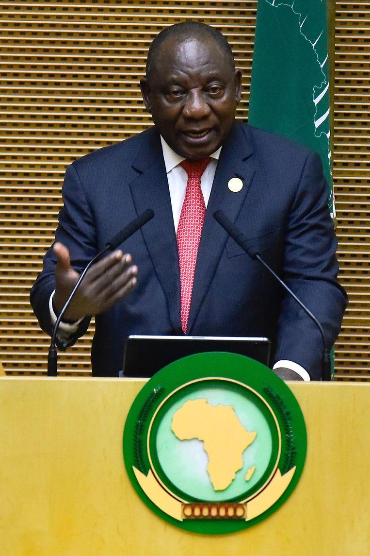 UA-voorzitter en president van Zuid-Afrika Cyril Ramaphosa.
