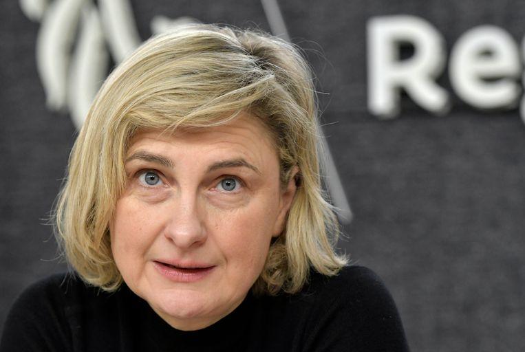 Vlaams minister van Onderwijs Hilde Crevits. Beeld Photo News