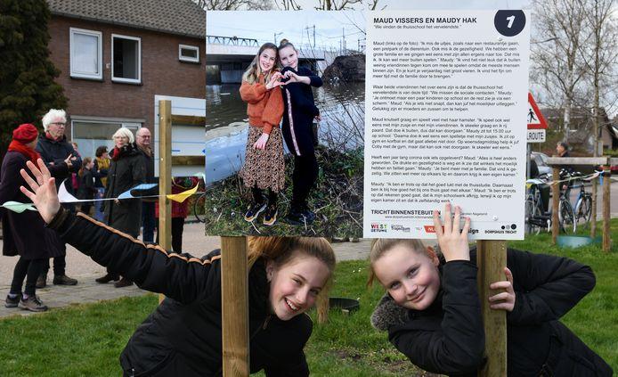 Foto-expositie door het dorp Tricht.