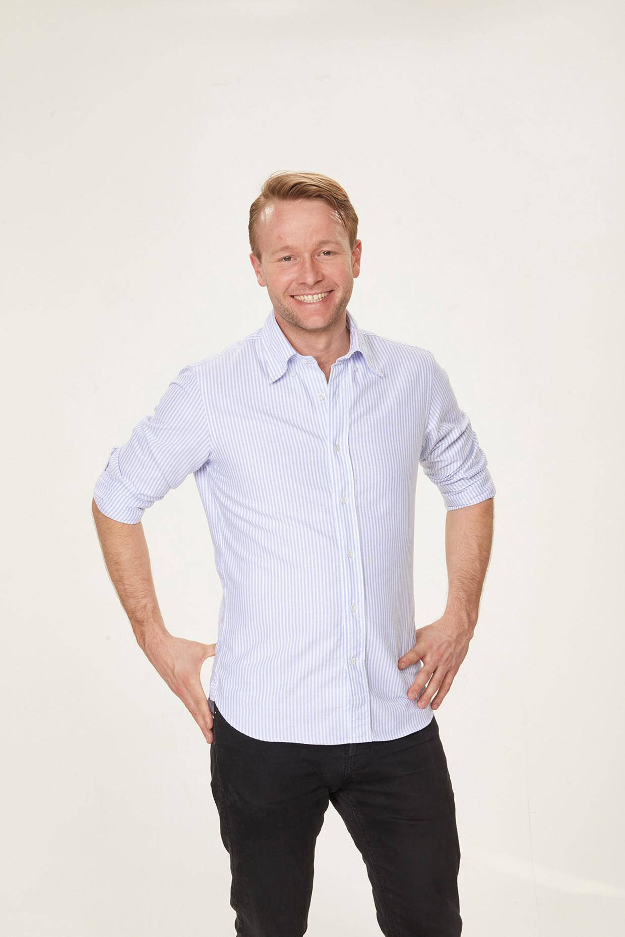 Reinier van Lanschot, lijsttrekker van de nieuwe partij Volt (Nederland).