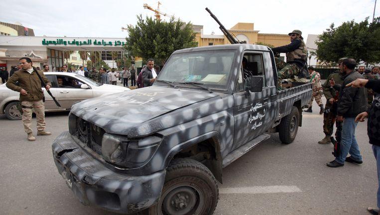 Gewapende mannen in Tripoli Beeld AFP