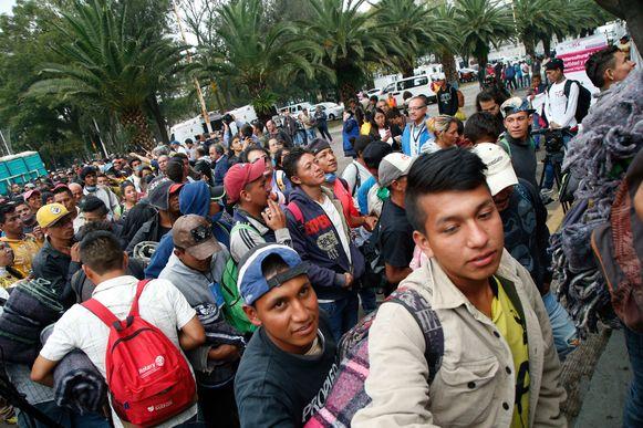 Een vierduizendtal migranten zijn op weg naar de VS sinds begin oktober.