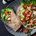 Vegetarische fajita-wraps.