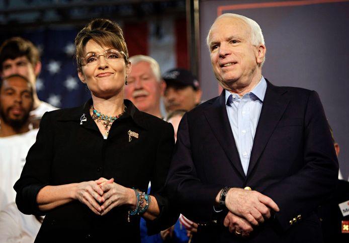 John McCain en Sarah Palin namen het tijdens de presidentsverkiezingen van 2008 op tegen Joe Biden en Barack Obama.