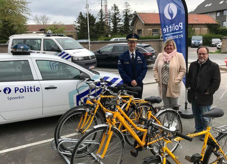 Politiezone Spoorkin stelt deze fietsen ter beschikking van slachtoffers van een fietsdiefstal.