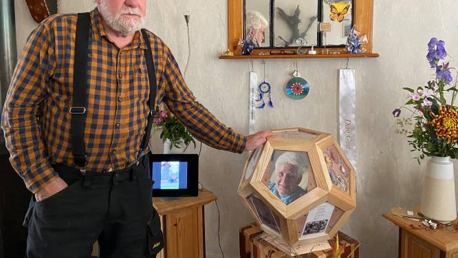Willem maakte de kist en urn voor zijn overleden vrouw: 'Gea is weer thuis'