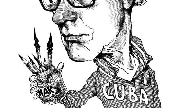 Paul van der Steen: van kabelkranttekenaar tot dé portrettist van literair Nederland