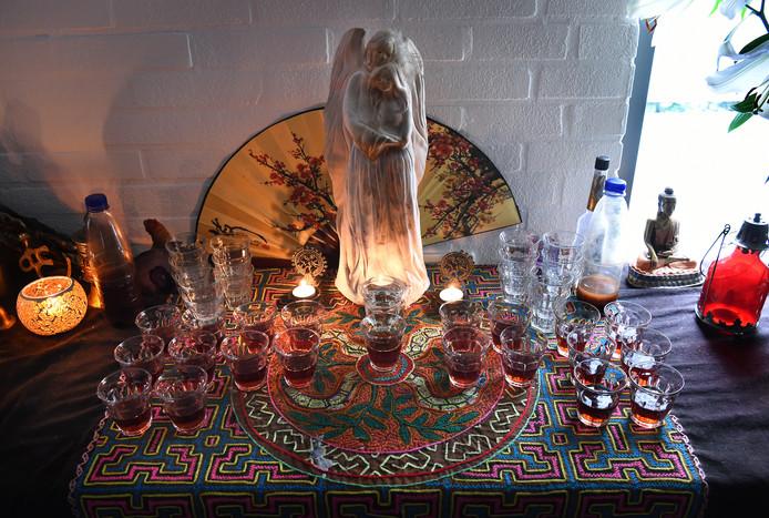 Hallucinerende thee bij een ceremonie in Doetinchem van Om-Mij.