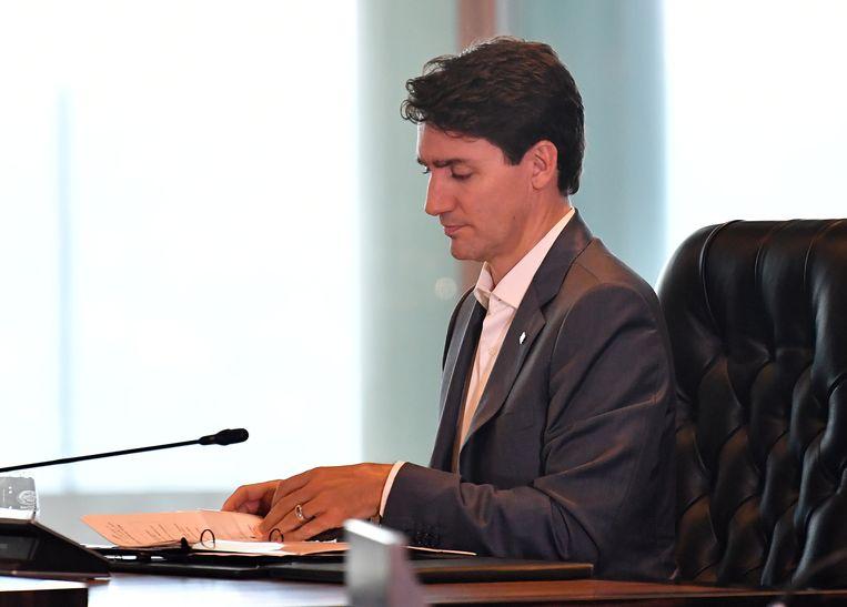 De Canadese premier Justin Trudeau. Beeld AFP