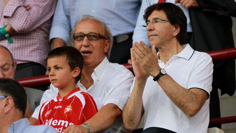 Voorzitter Domenico Leone naast de voormalige premier Elio Di Rupo.