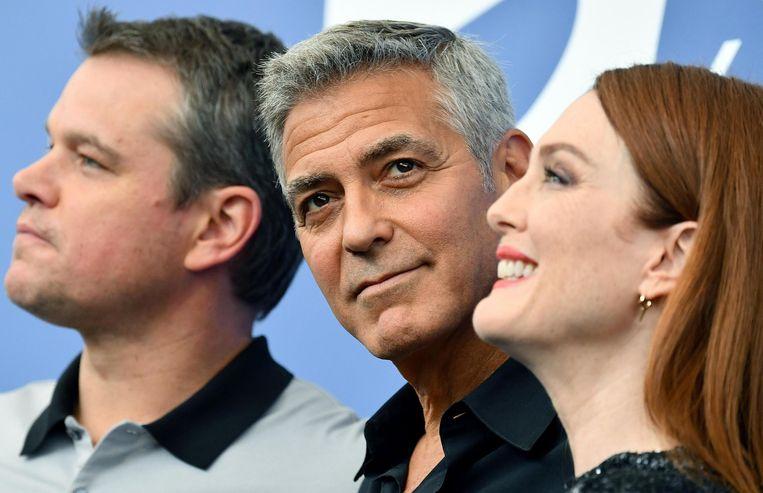 De hoofdrollen in Suburbicon zijn voor Matt Damon en Julianne Moore. Beeld epa