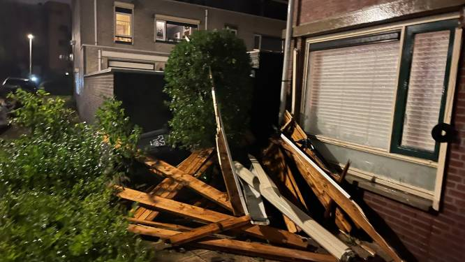 Schade door harde wind en gewonden door lokale windhoos