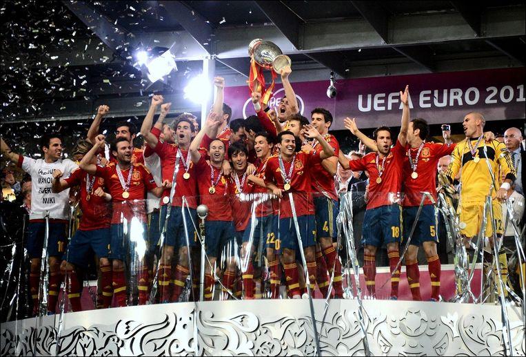 In 2012 kroonde Spanje zich tot Europees kampioen, vier jaar eerder deed het dat ook al