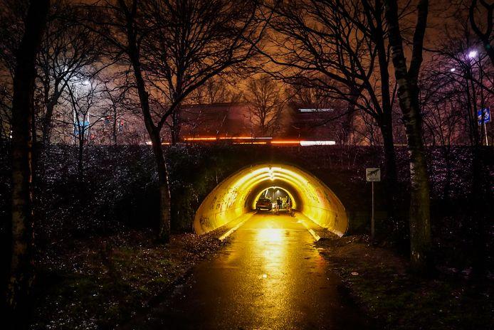 Man probeert jongens te beroven in fietstunneltje Nuenen.