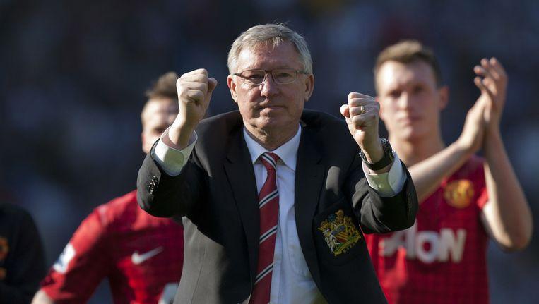 Alex Ferguson na de wedstrijd tegen West Bromwich Albion. Beeld ap