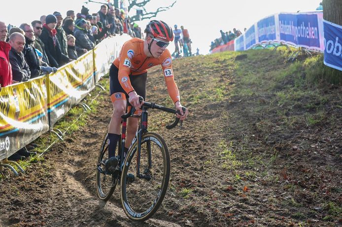 Pim Ronhaar eerder dit jaar in actie voor de Nederlandse ploeg.