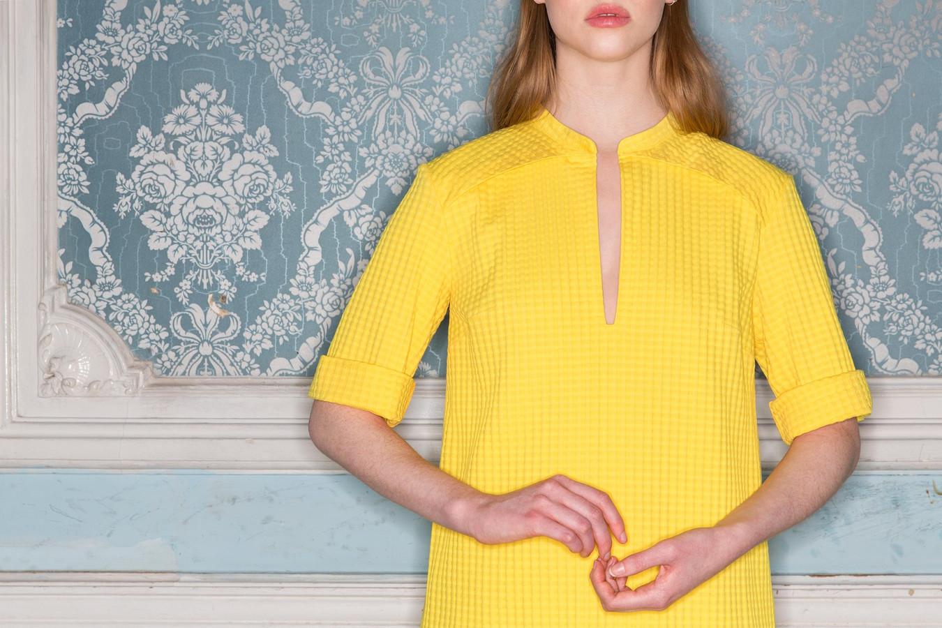 Een jurk uit de zomercollectie van An Buermans.