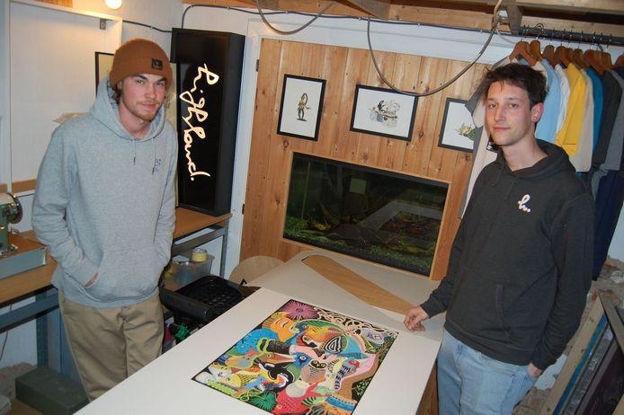 Nathan en Gust zijn de bedenkers achter 't Ram Gods dat vanaf eind juni langs de N70 zal pronken.