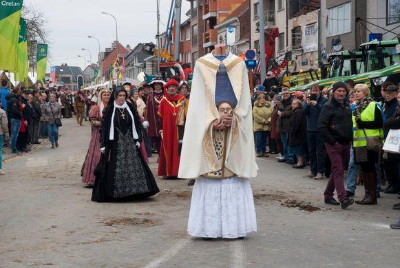 Tijdens de historische stoet zal een onthoofde Livinus door de straten wandelen.