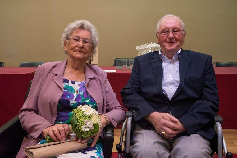 Henri De Maesschalck en Lucille Vagenende vierden in Melle hun 65ste huwelijksverjaardag.