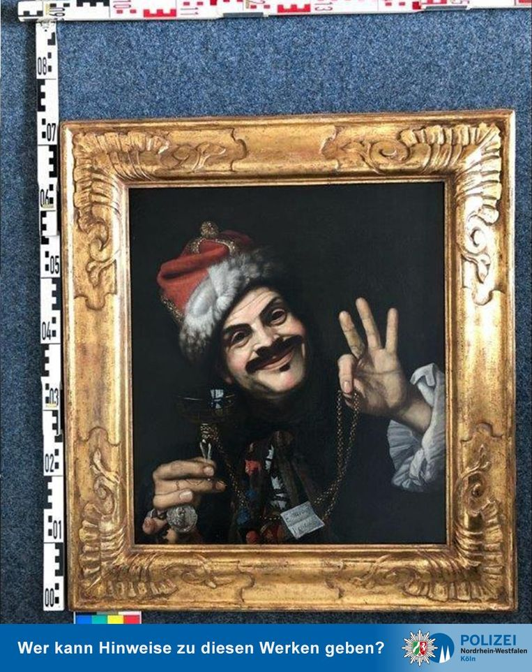 De Lachende man, van  Pietro Bellotti. Beeld Polizei Koln