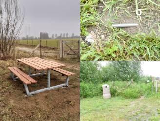 Dieven aan de haal met gemeentelijke picknicktafel aan de Zaubeekstraat in Kruisem