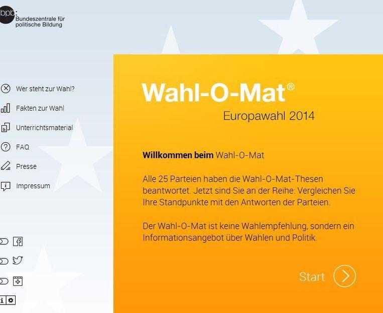 null Beeld Wahl-o-mat