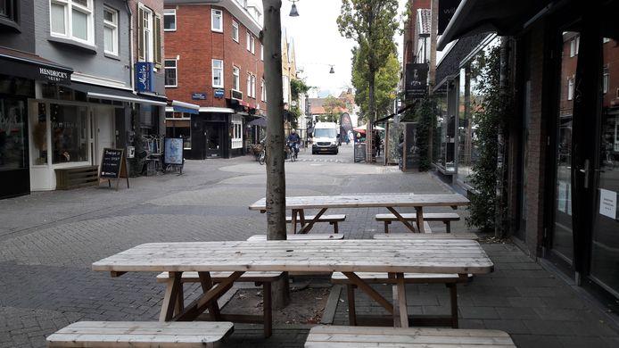 Binnenstad Eindhoven bij het begin van de tweede  lockdown. Kleine Berg.