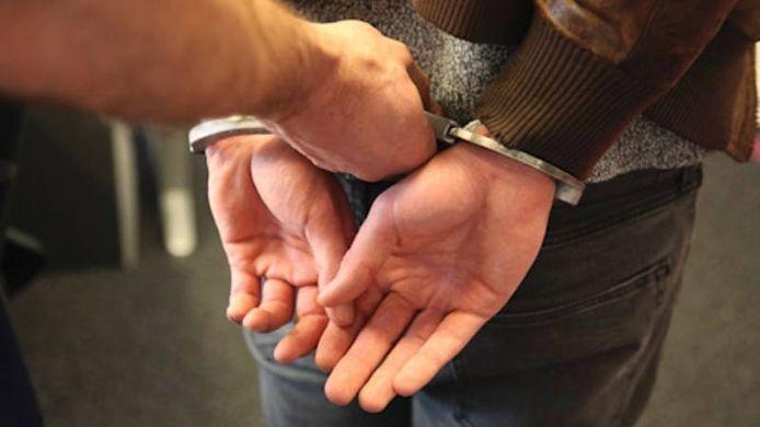 stockfoto boeien arrestatie politie stock