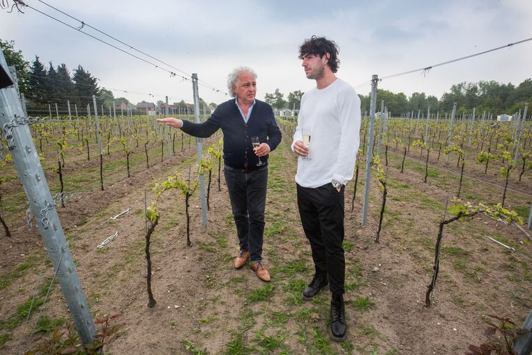 Ignazio Moser op bezoek bij L'uno coll'Altro in Peer (met links Franco Candreva)
