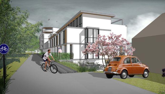 Impressie van de nieuwbouw in de Waddinxveense Bomenwijk.