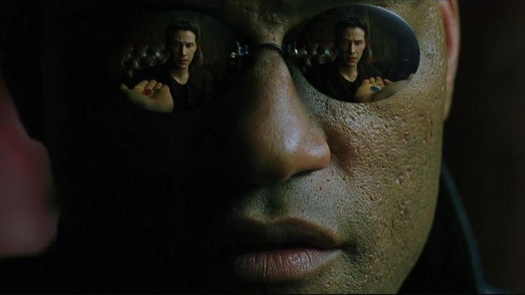Laurence Fishburne als Morpheus in 'The Matrix'. Beeld