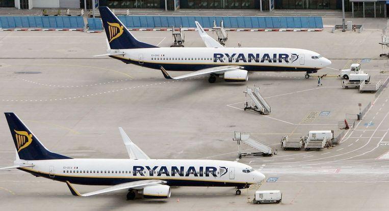 Vooral vluchten van Ryanair richting Franse en Spaanse bestemmingen zijn geschrapt.