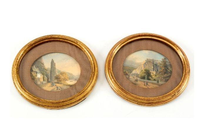 Het Yper Museum tikte onder meer deze twee kleine aantrekkelijke gezichtjes op Dinant, uit de periode 1843—1846, op de kop.
