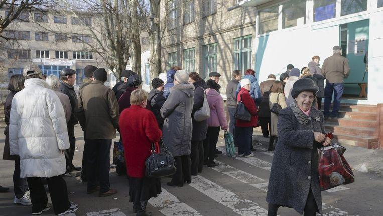 In Oekraïne zijn vandaag ook verkiezingen. Beeld epa