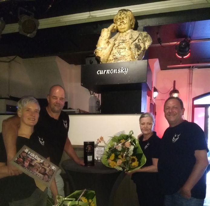 Anuska van de Wiel, Wim Muller, Marina Habraken en Roger Paijmans (vlnr) 'vierden' de laatste avond van Curnonsky