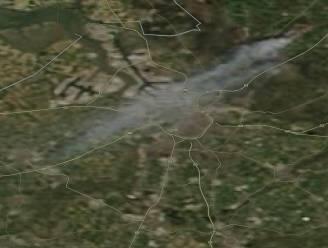 Rookwolk brand Brecht zelfs op satellietbeelden waarneembaar