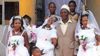 Moslim trouwt met drie vrouwen tegelijk om kosten te besparen