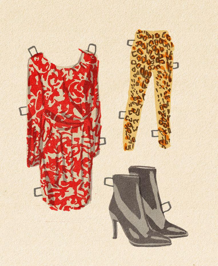 De garderobe  van Lilianne Ploumen. Beeld Tzenko