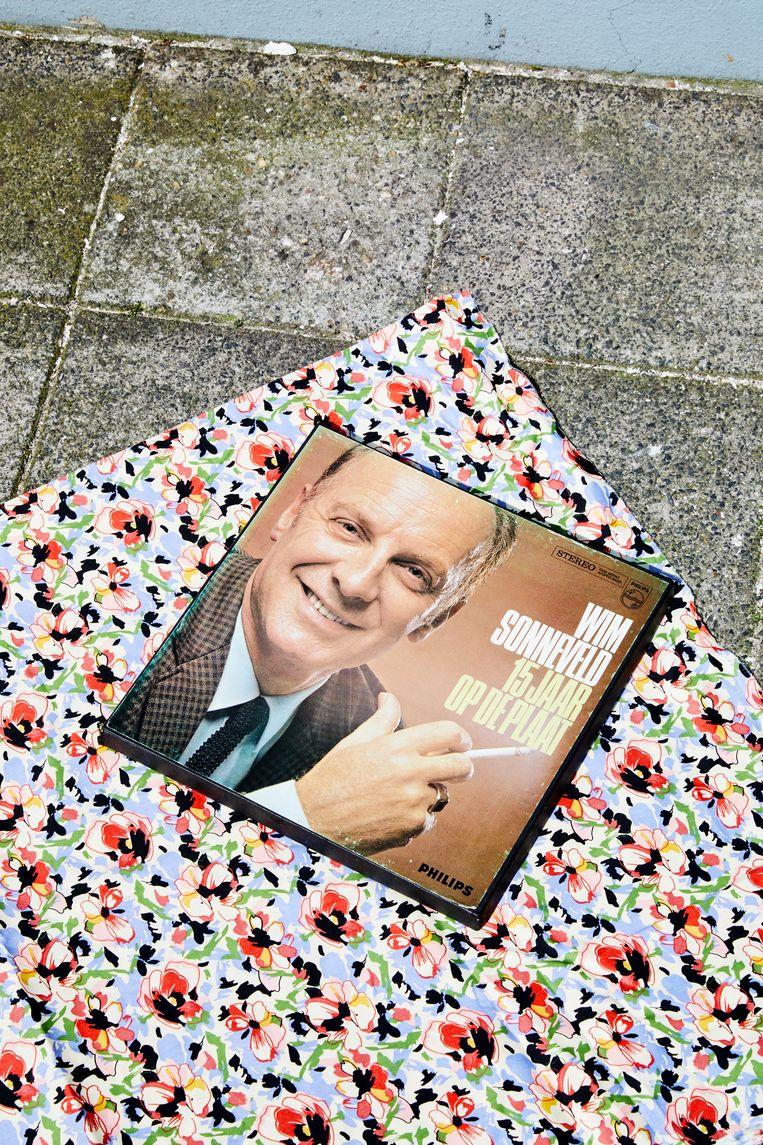 Wim Sonneveld - 15 jaar op de plaat, vier platen met boekwerk, compleet in doos. Beeld Marie Wanders