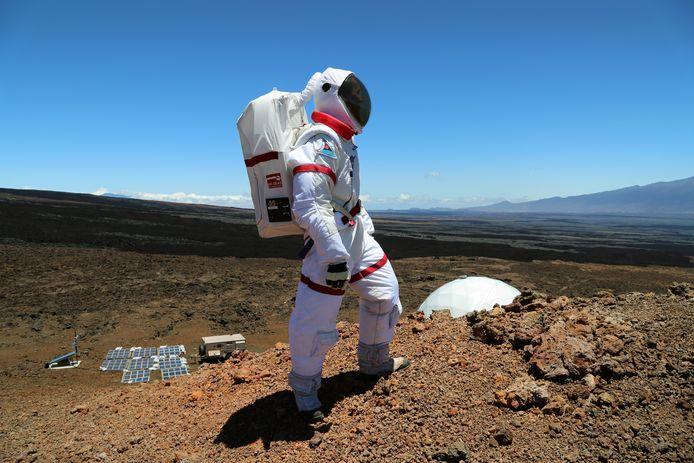 Op een onherbergzaam deel van Hawaii werd door wetenschappers het leven op Mars nagebootst.