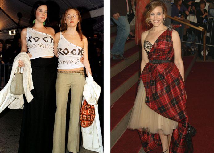 Links: Liv Tyler en Stella McCartney. Rechts: Sarah Jessica Parker.