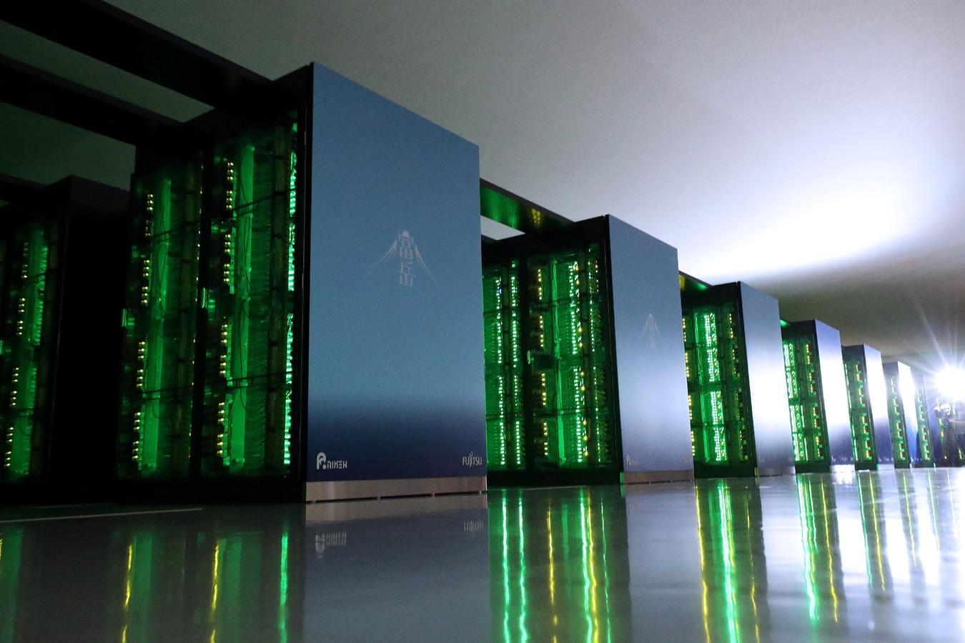 Cette photo prise le 16 juin 2020 montre le supercalculateur japonais Fugaku au Centre Riken pour les sciences informatiques à Kobe, dans la préfecture de Hyogo.