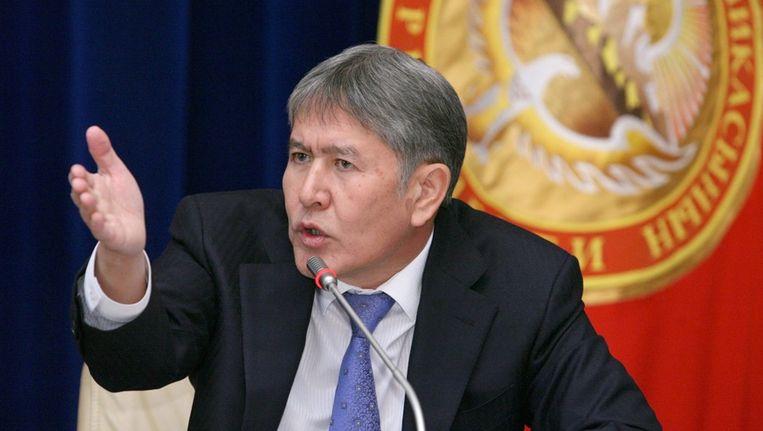 Almazbek Atambajev, president van Kirgizië. Beeld EPA