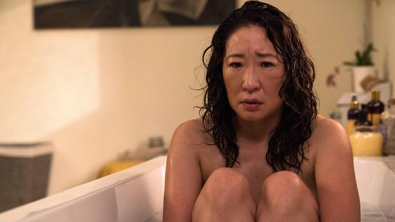 Sandra Oh in 'Killing Eve' Beeld TMDB
