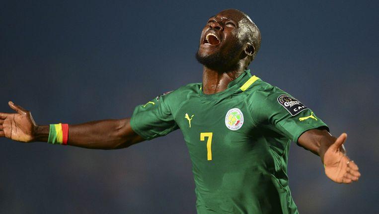 Fenerbahce-spits Moussa Sow tekende voor de winner in blessuretijd. Beeld EPA
