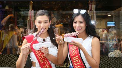 IN BEELD. Kandidates Miss België trotseren de hitte in Brugge